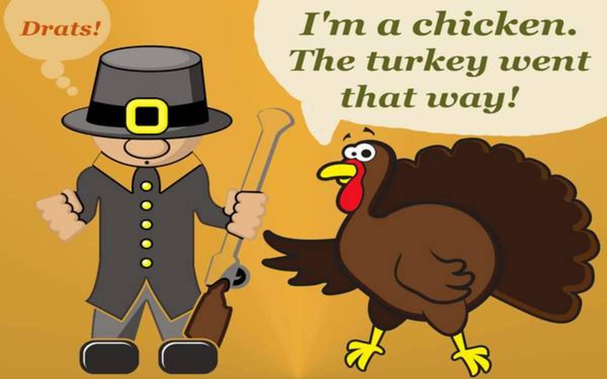 Turkey Pretending to Be a Chicken
