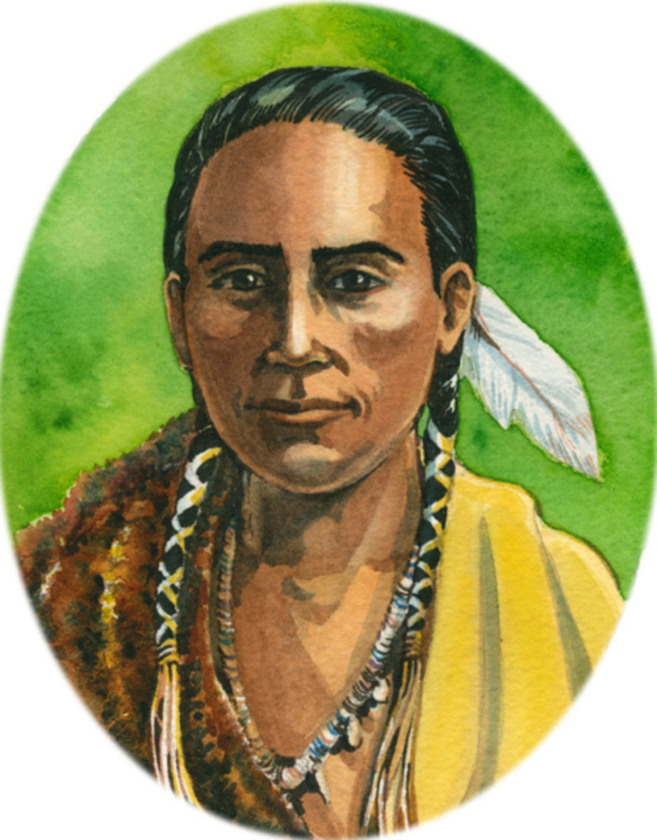 Portrait of Indian Chief Squanto
