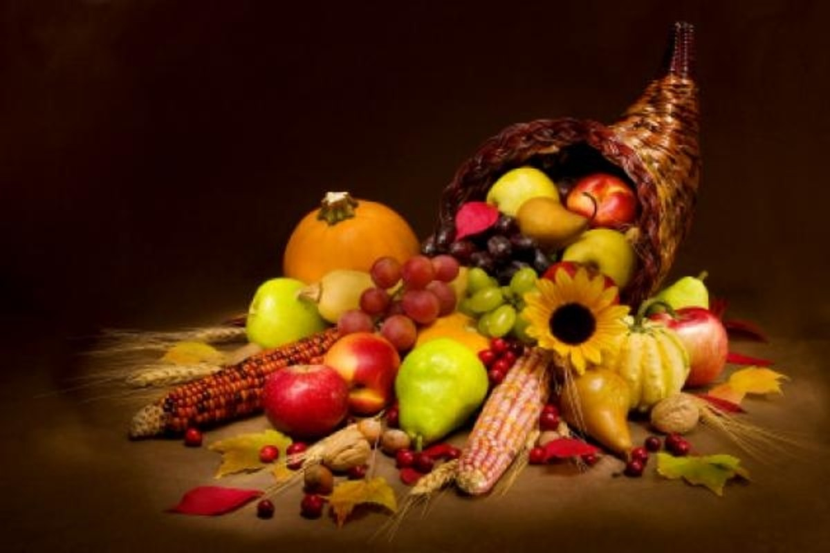 Traditional Thanksgiving Cornucopia