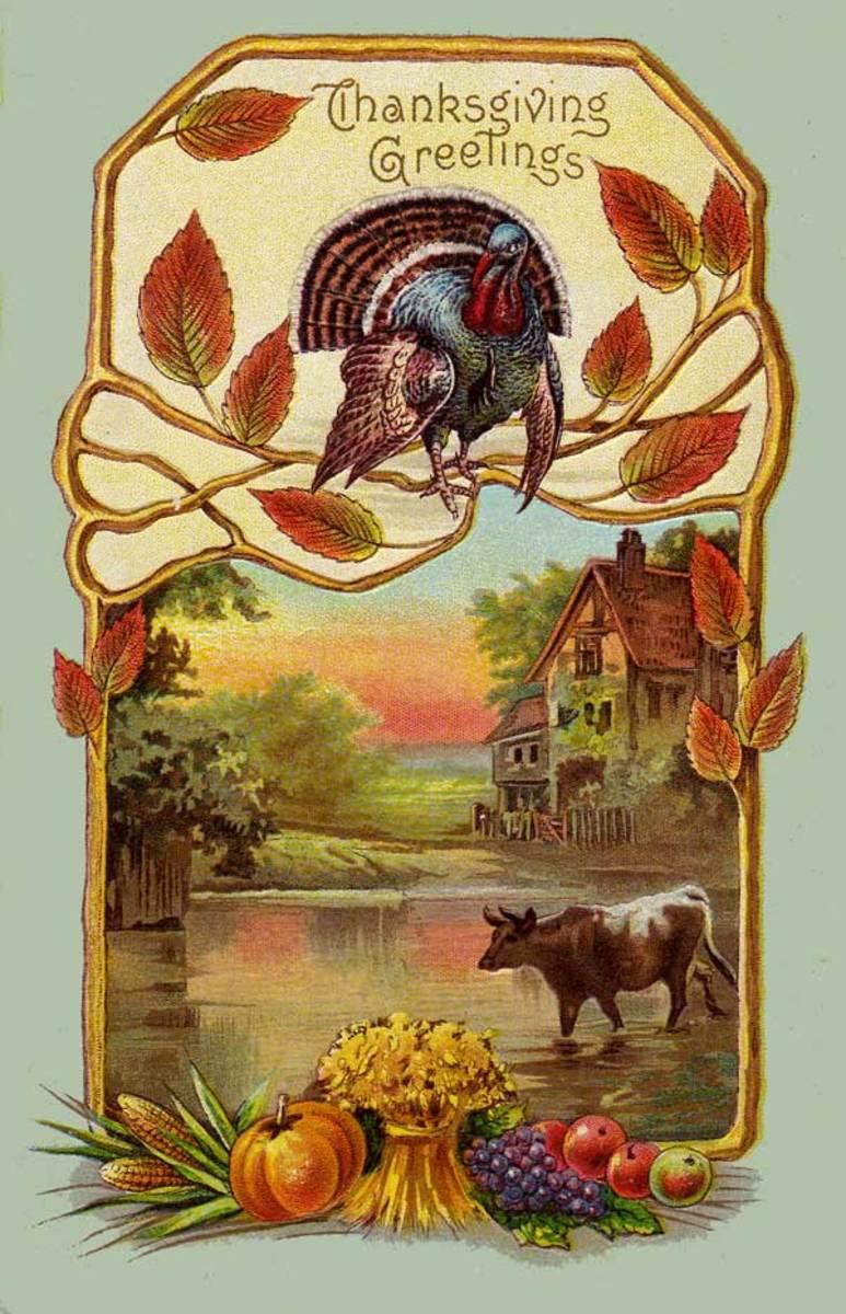 Vintage Holiday Greeting Card