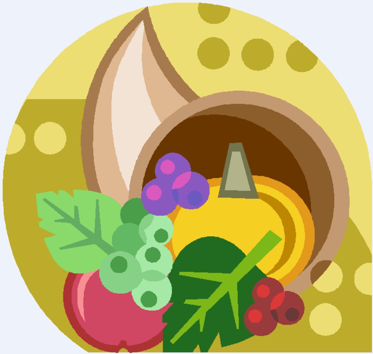 Cornucopia with Pumpkin and Berries