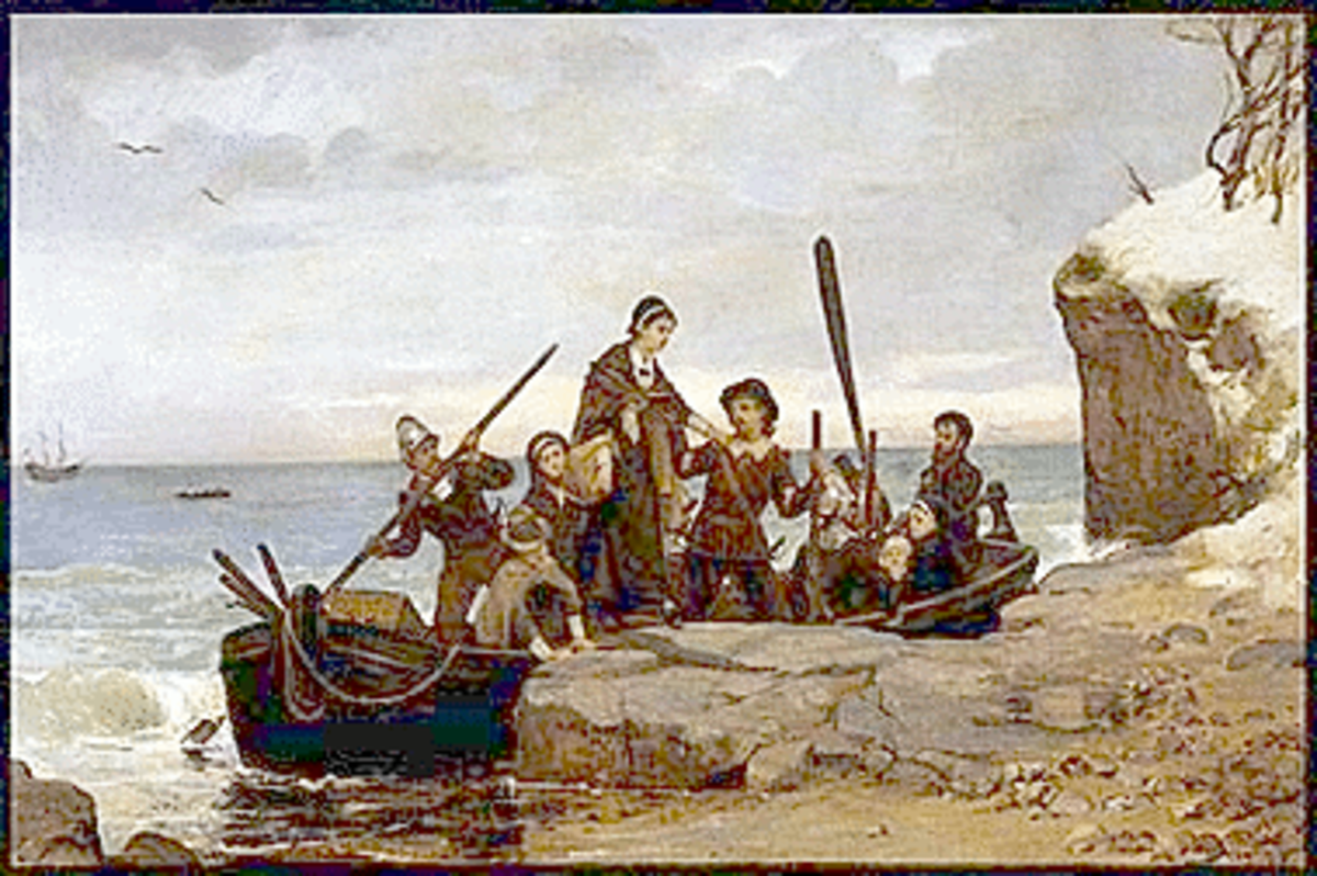 """The Landing of the Pilgrims"" Painting"