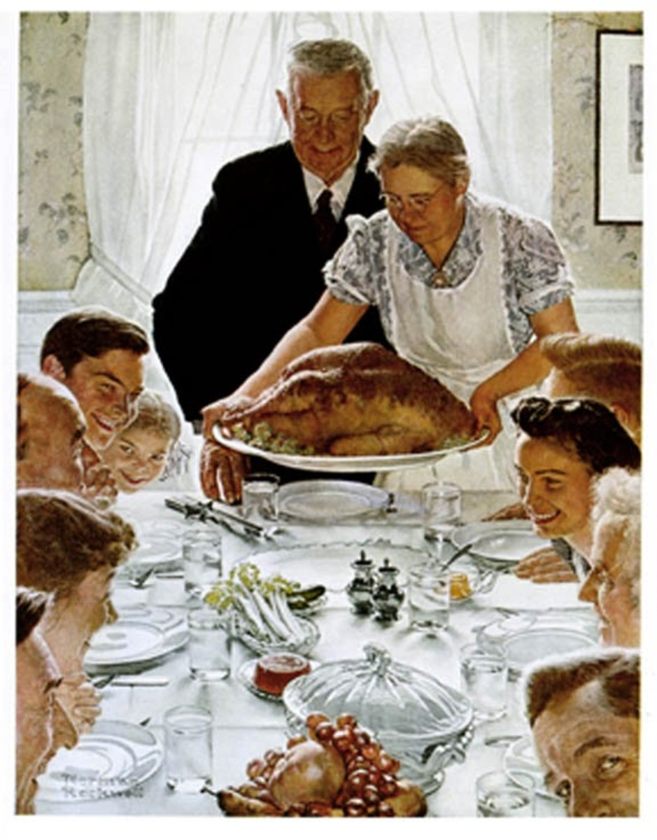 "The Thanksgiving picture ""Freedom From Want,"" 1943"