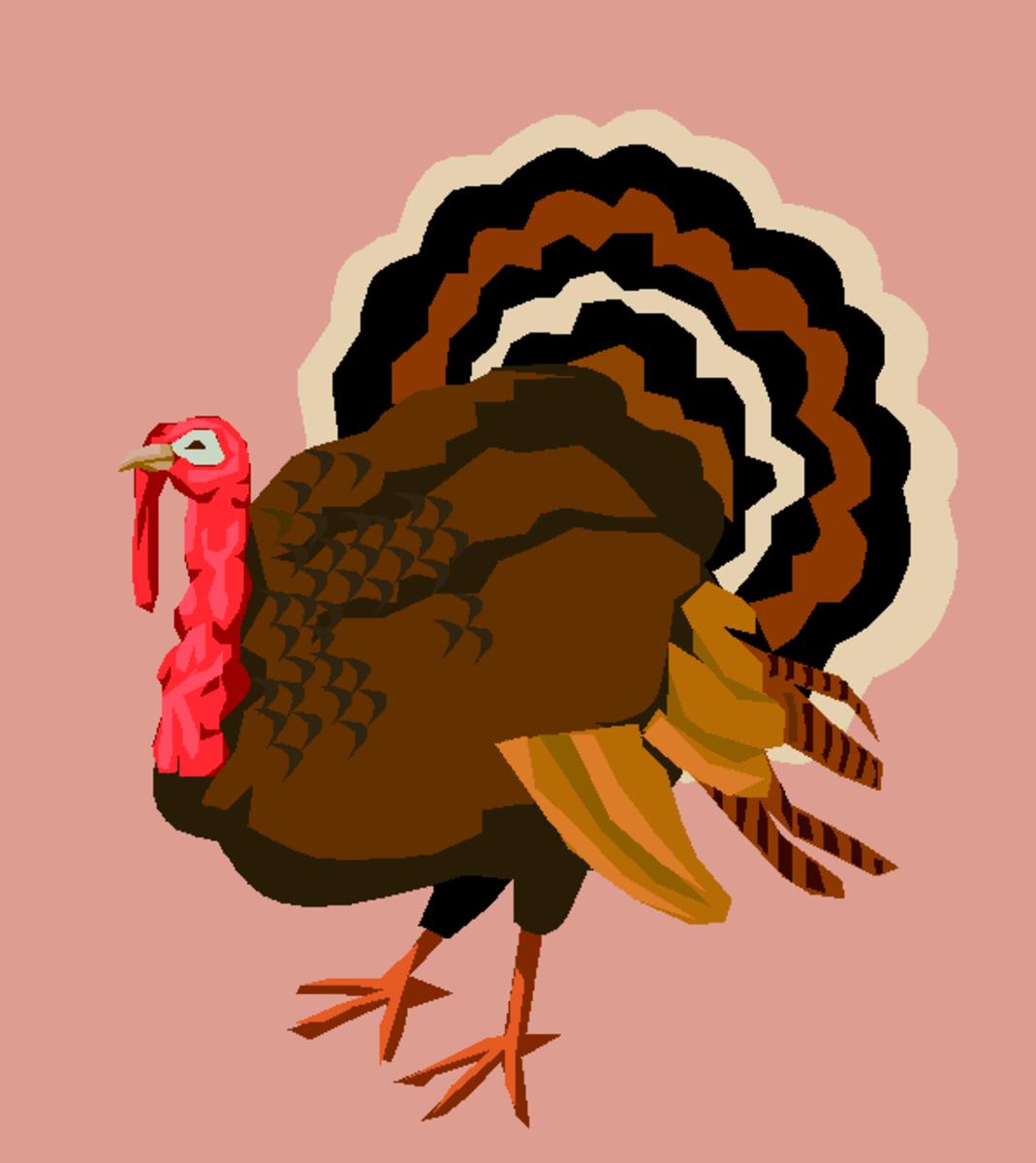 Colorful Turkey Clip Art
