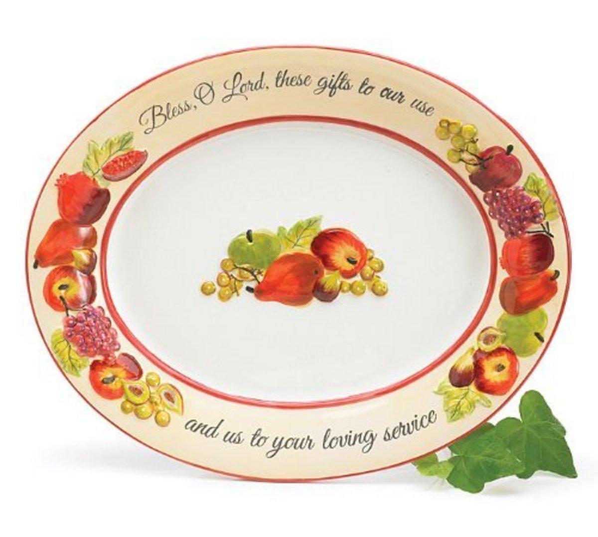 Thanksgiving Prayer on Platter