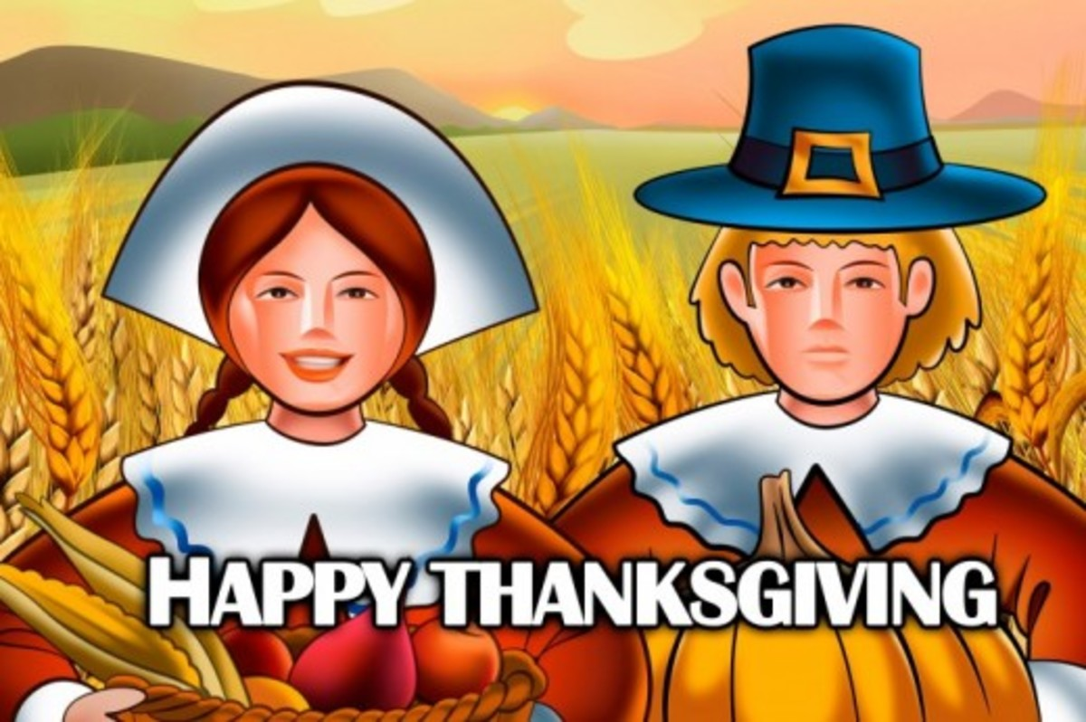 Happy Thanksgiving from Pilgrim Man and Woman