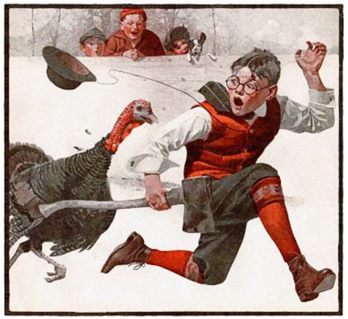 Catching the Thanksgiving Turkey - 1917