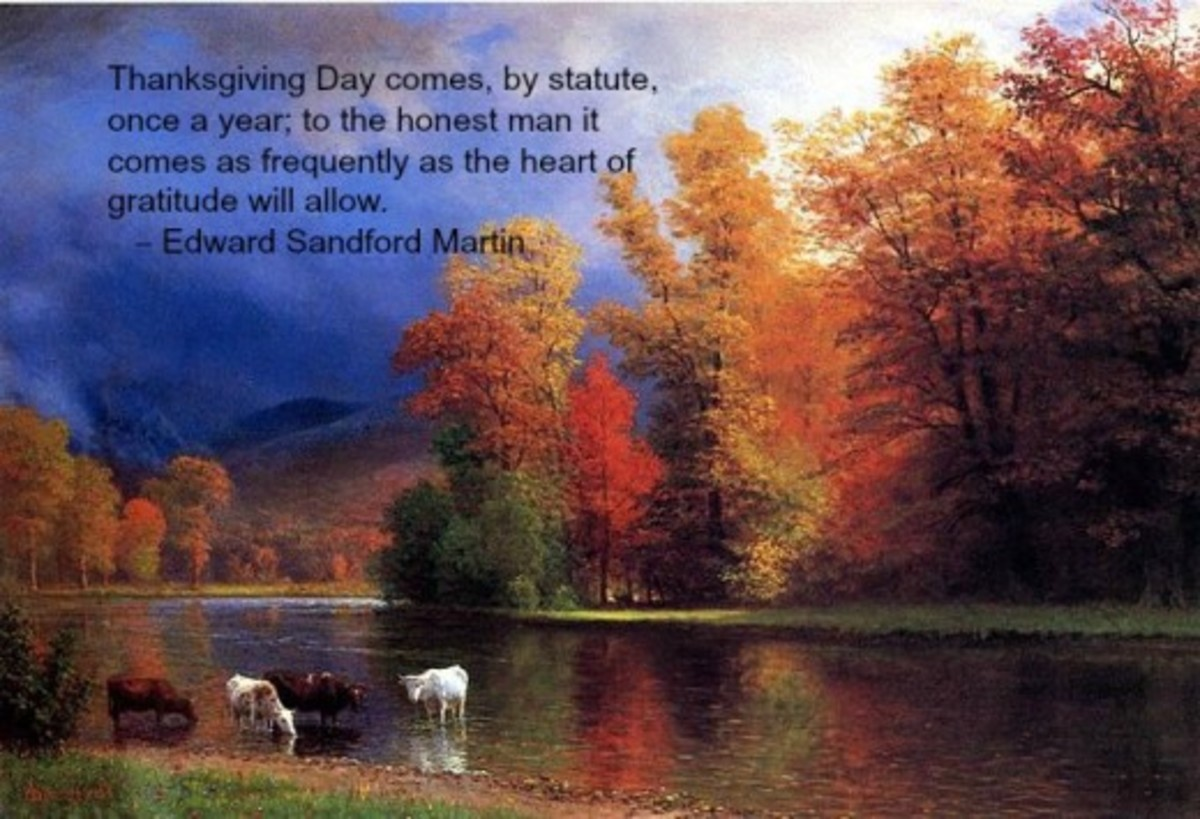 Thanksgiving Prayer Thoughts