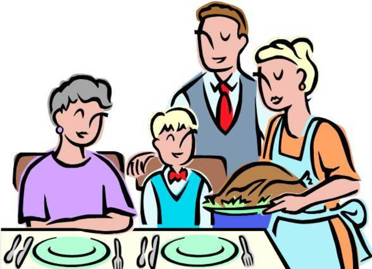Thanksgiving Day Meal with Grandmother