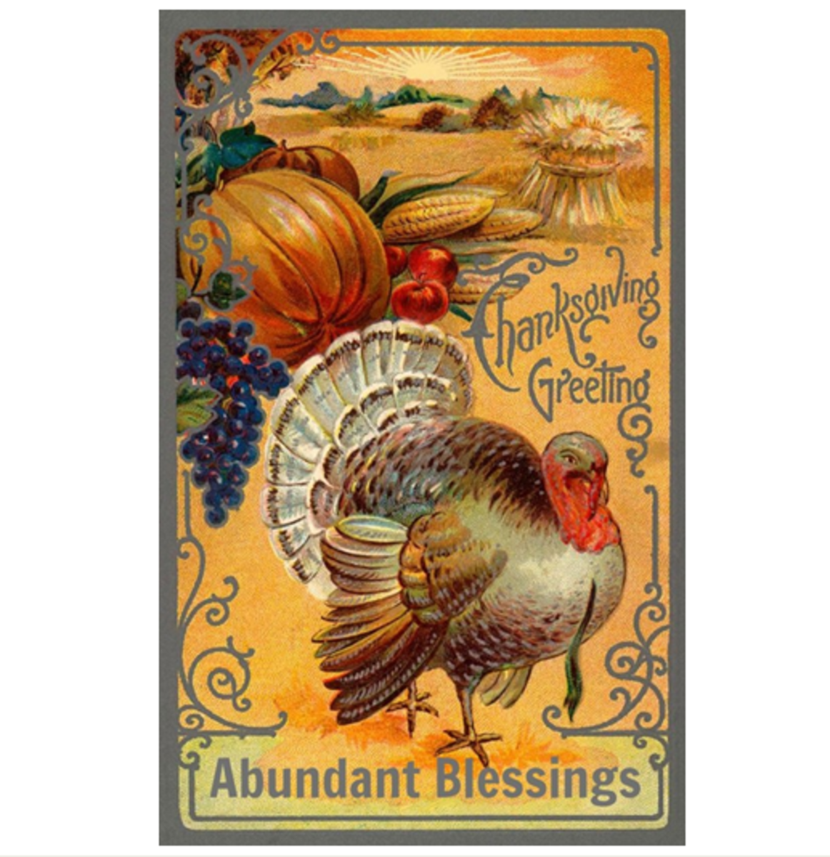 Thanksgiving Greeting for Abundant Blessings