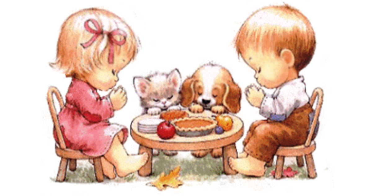 Thanksgiving Prayers at the Children's Table