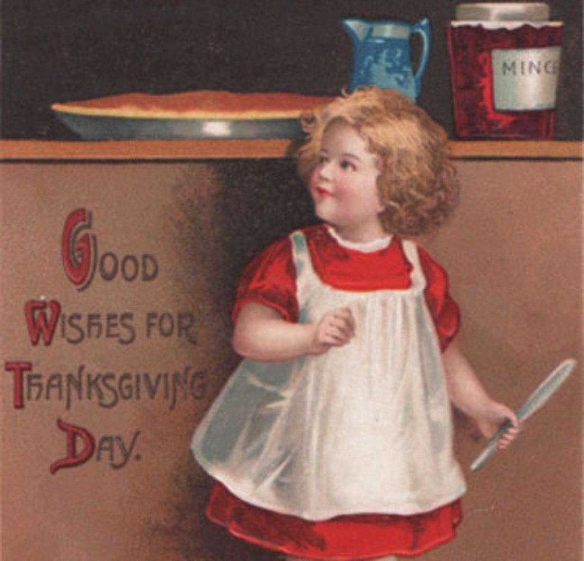 Child with Holiday Pumpkin Pie