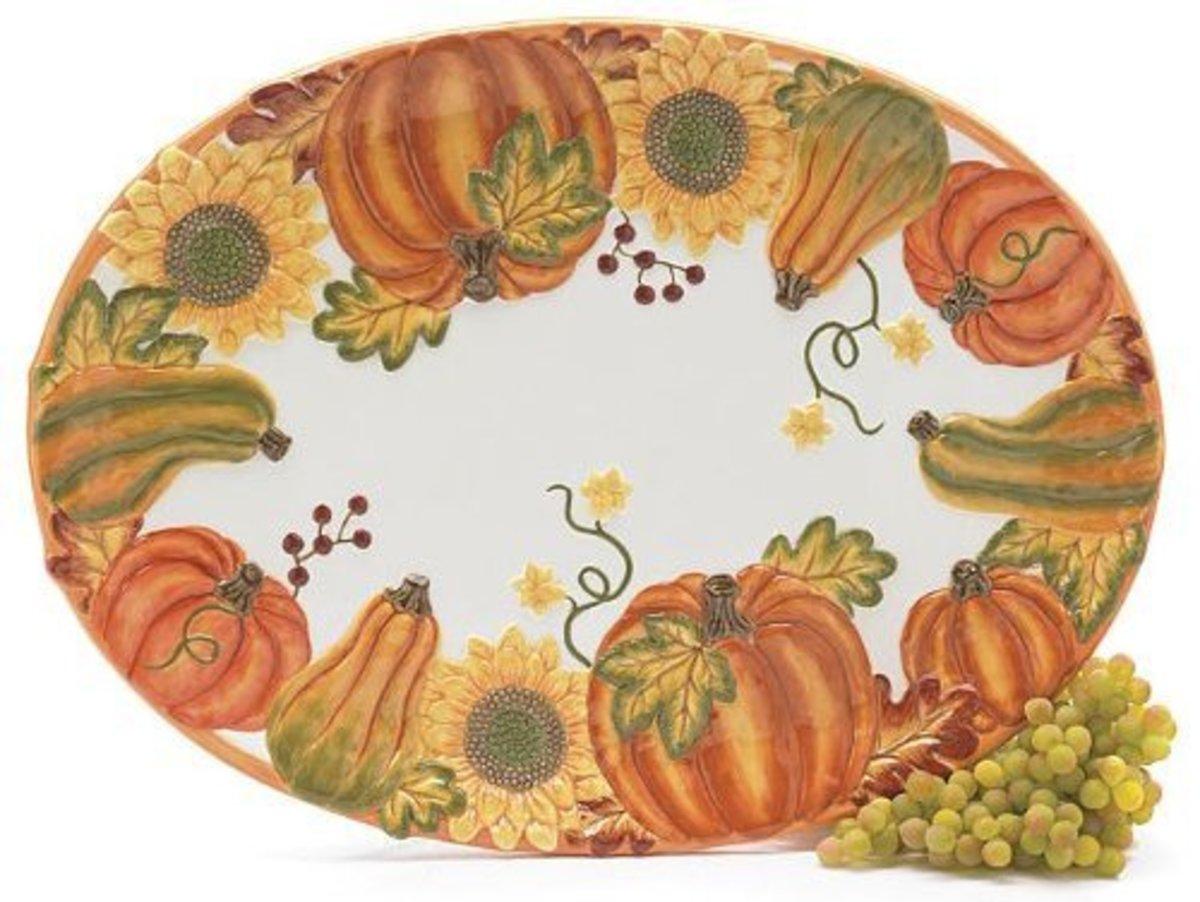 Autumn Harvest Turkey Platter