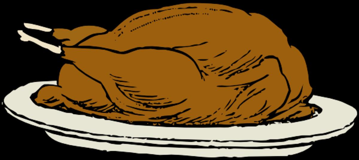 Roasted Thanksgiving Turkey on Platter