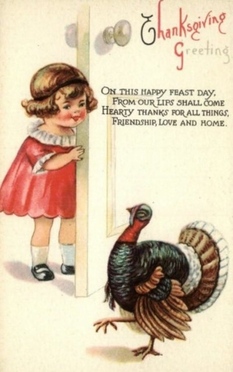 Giving Thanks at Thanksgiving Greeting Card Image