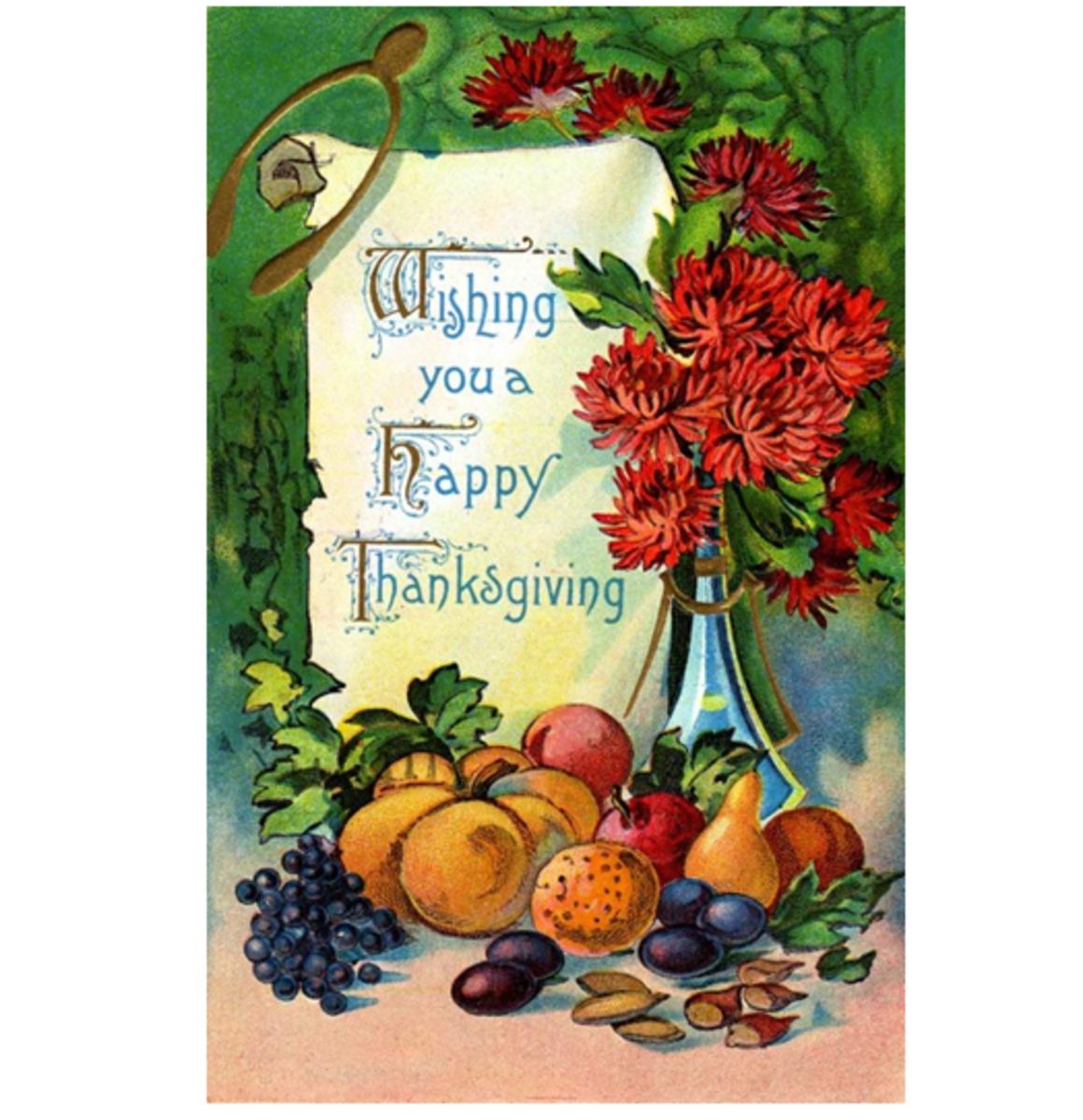 Happy Thanksgiving Wish with Turkey Wishbone