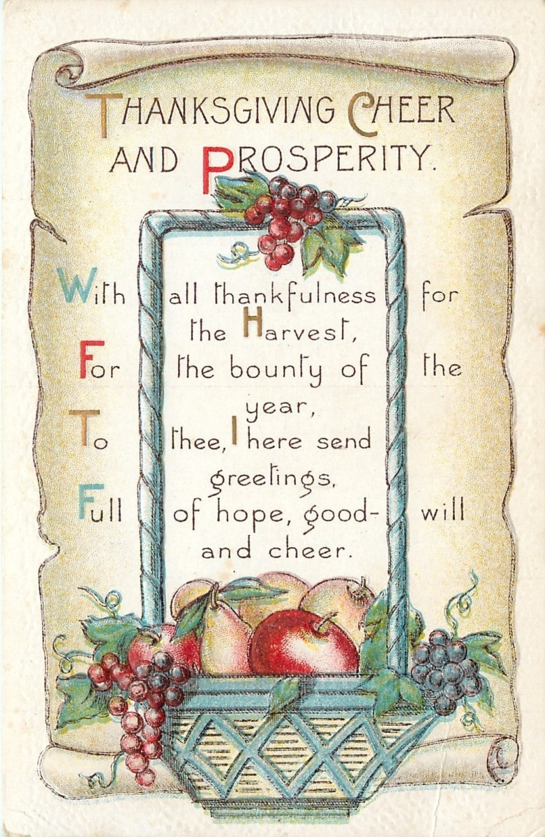 Thanksgiving Greetings Poem