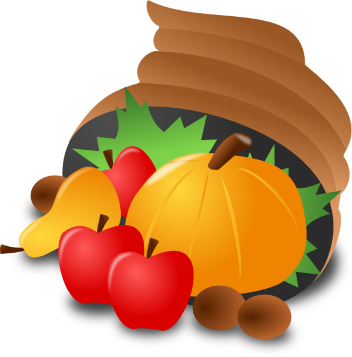 Cornucopia with Pumpkin, Fruit and Nuts