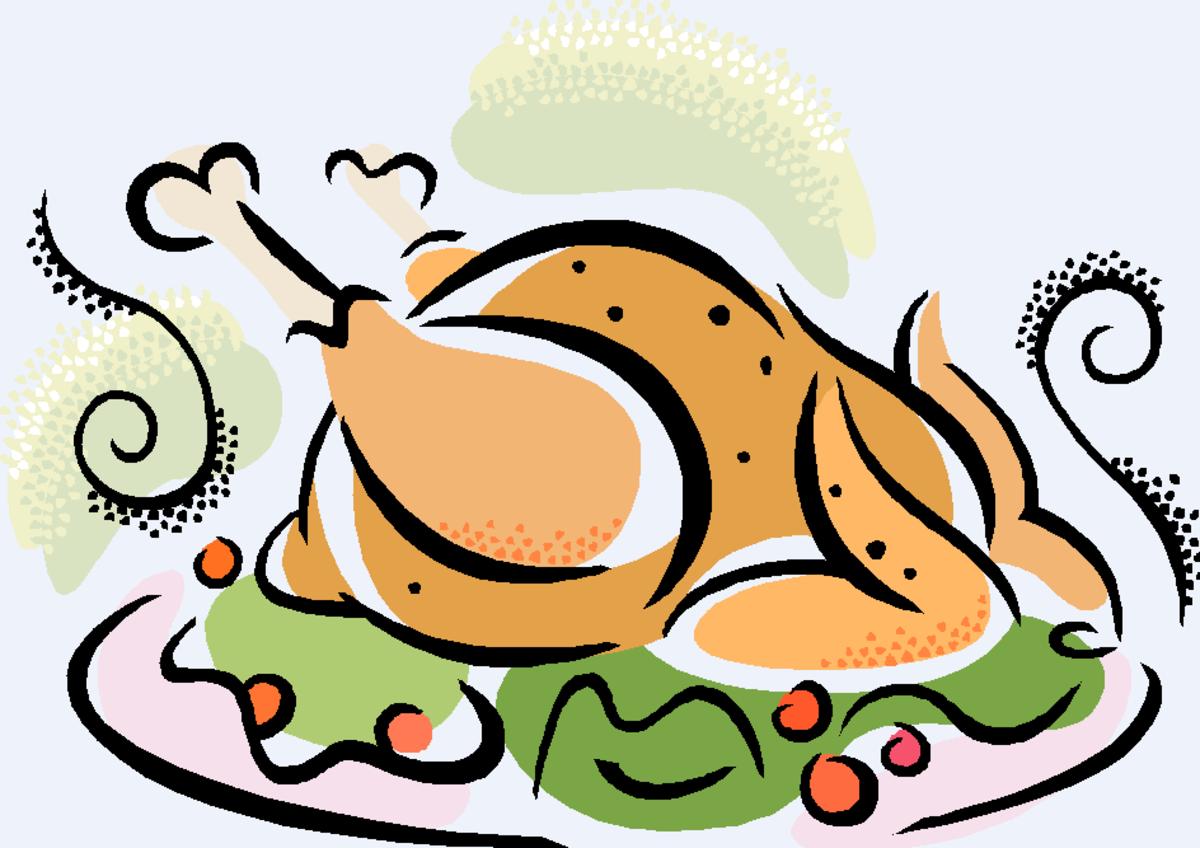 Thanksgiving Turkey Platter with Cranberries