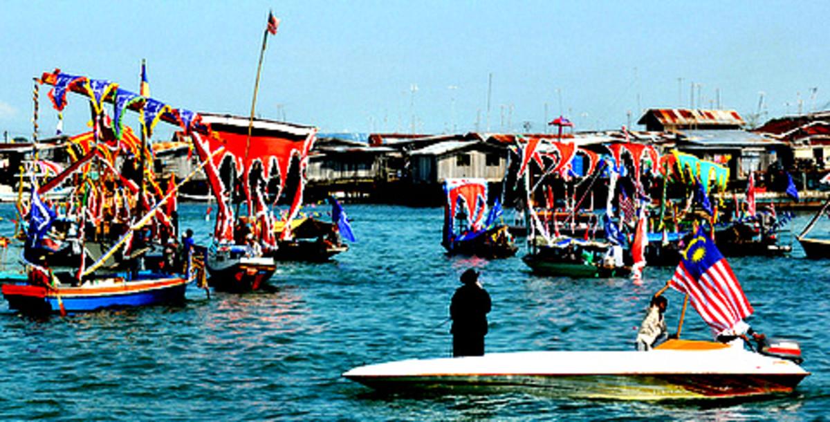 Regatta Lepa, held in Semporna, Sabah