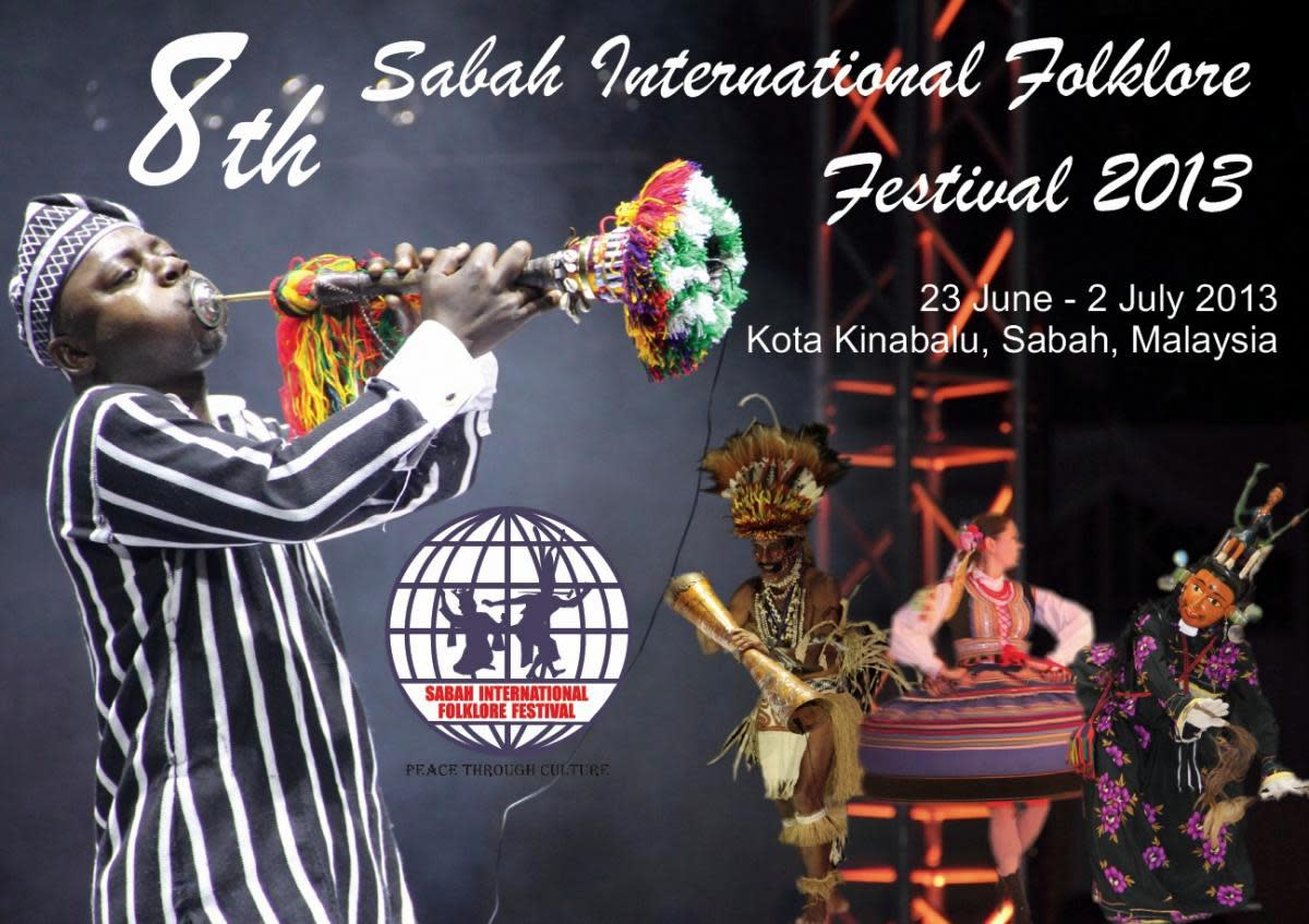 Poster for the Sabah International Folklore Festival 2013