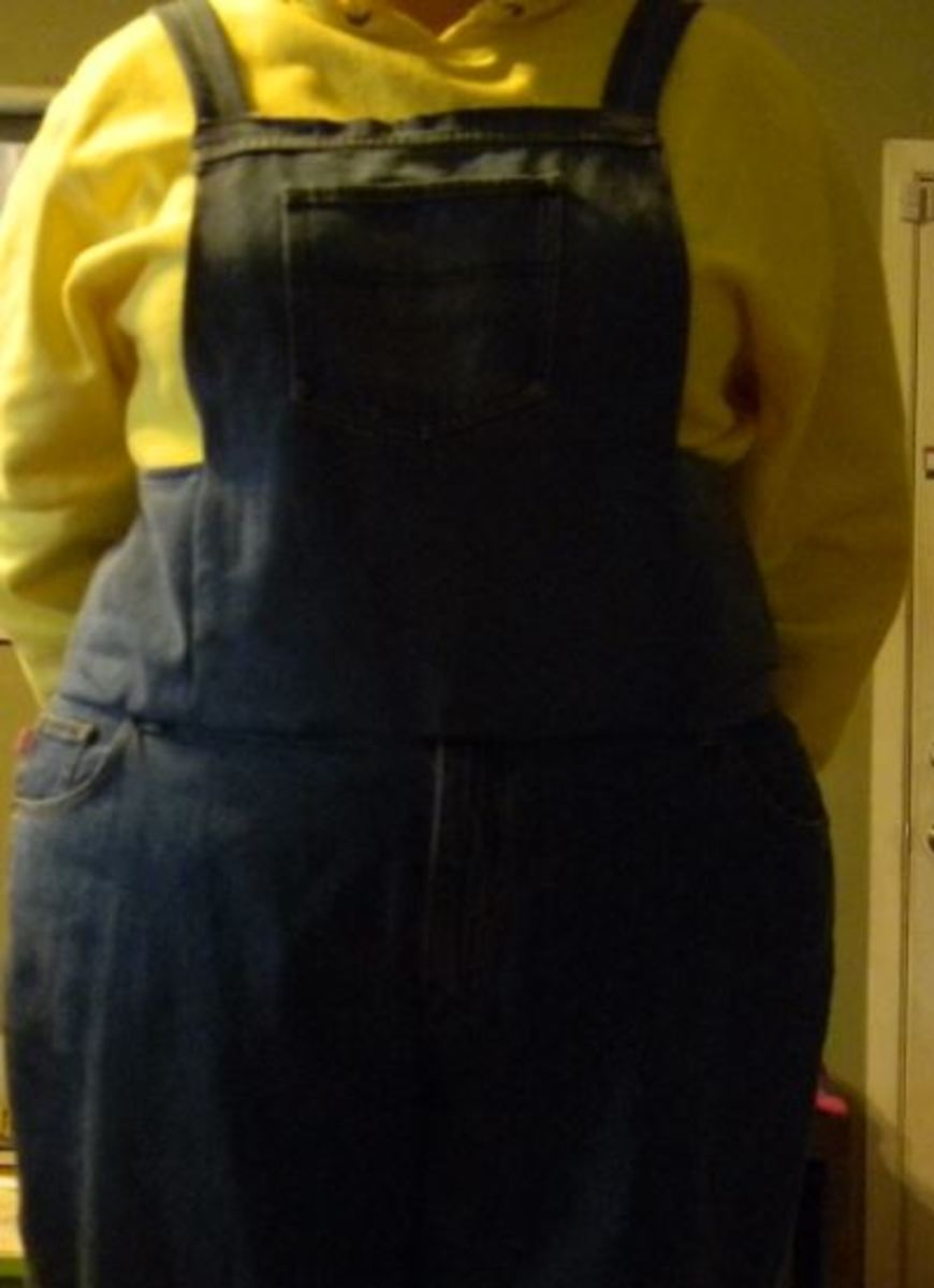 Upcycling Old Jeans into Quick Overalls
