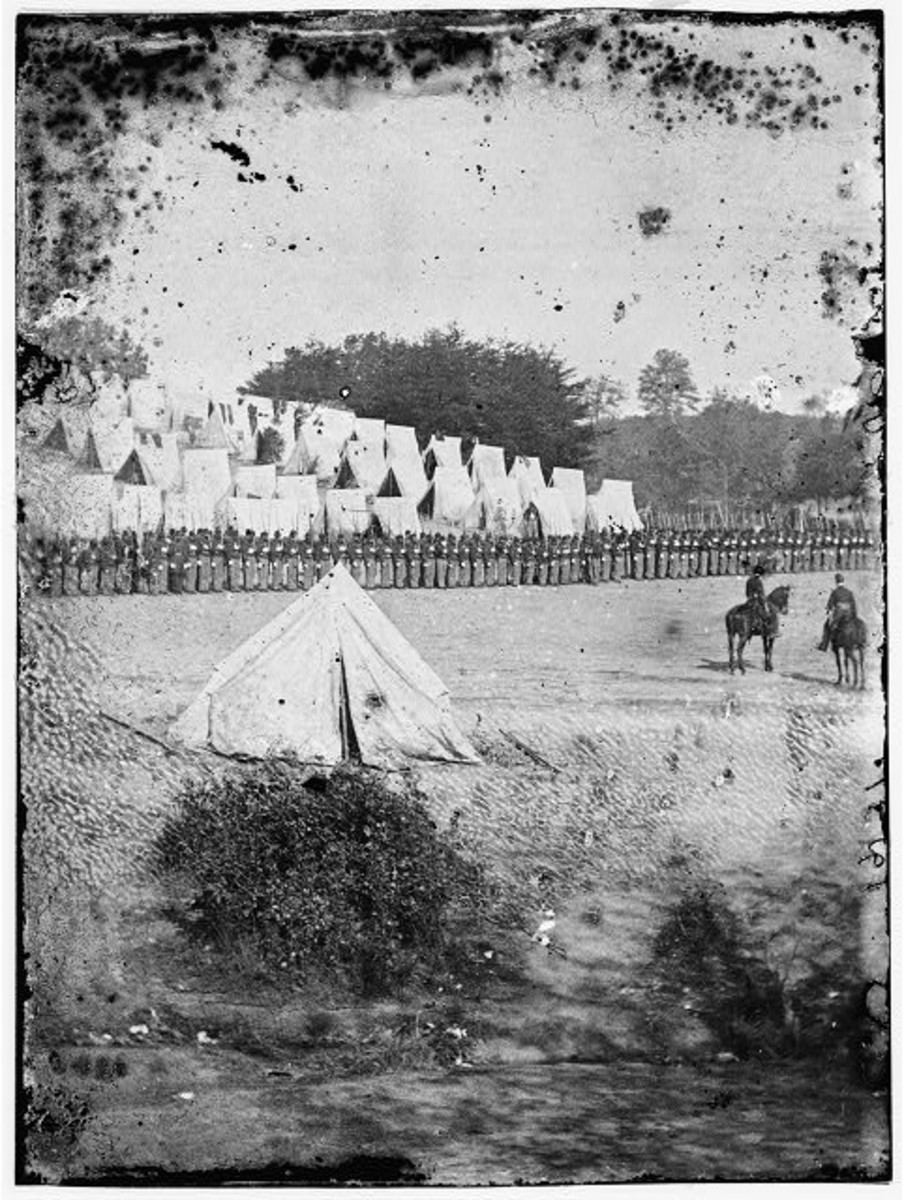Second image of the Excelsior Brigade at review