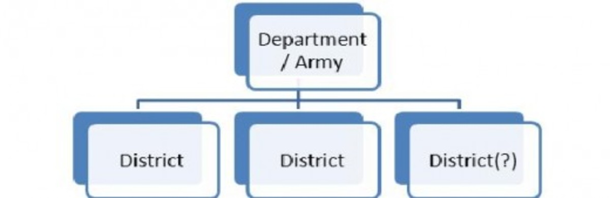 A Department subdivided into two or more Districts