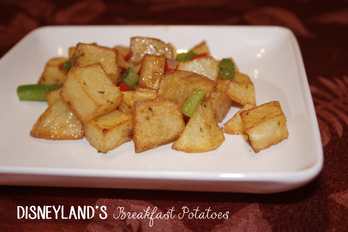 Disneyland's Breakfast Potatoes as served at the Carnation Cafe on Main Street USA.
