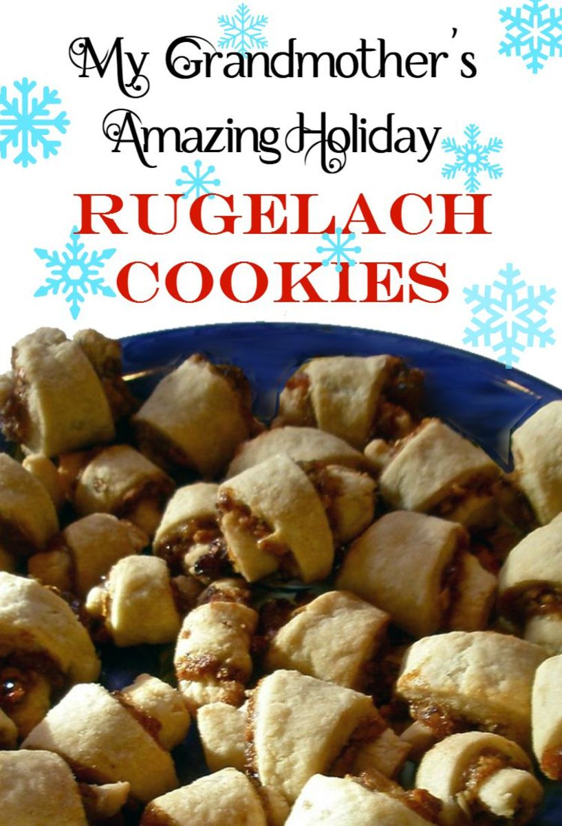 Strawberry Raisin Walnut Rugelach Cookie Recipe