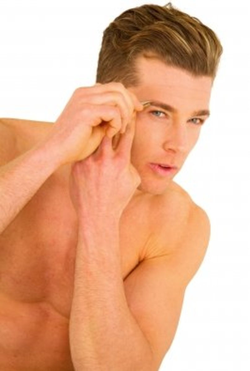 He is not likely to be spotted with unwanted hair around his brows.