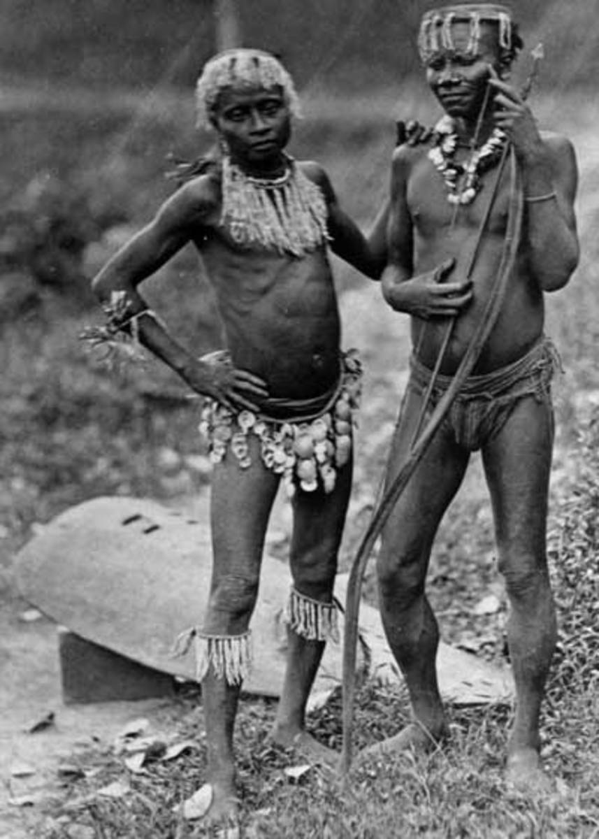 A file photo of two individuals belonging to the Great Andamanese tribe, another tribe from the Andaman group of islands. It is now on the verge of extinction. The Sentinelese look similar to the individuals shown in the image.