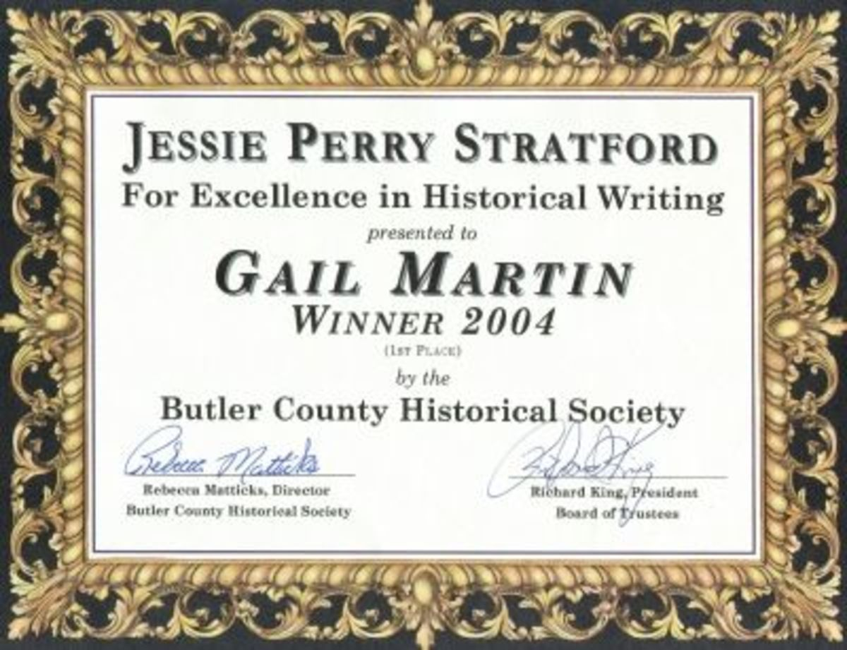 One of my mother's writing awards.
