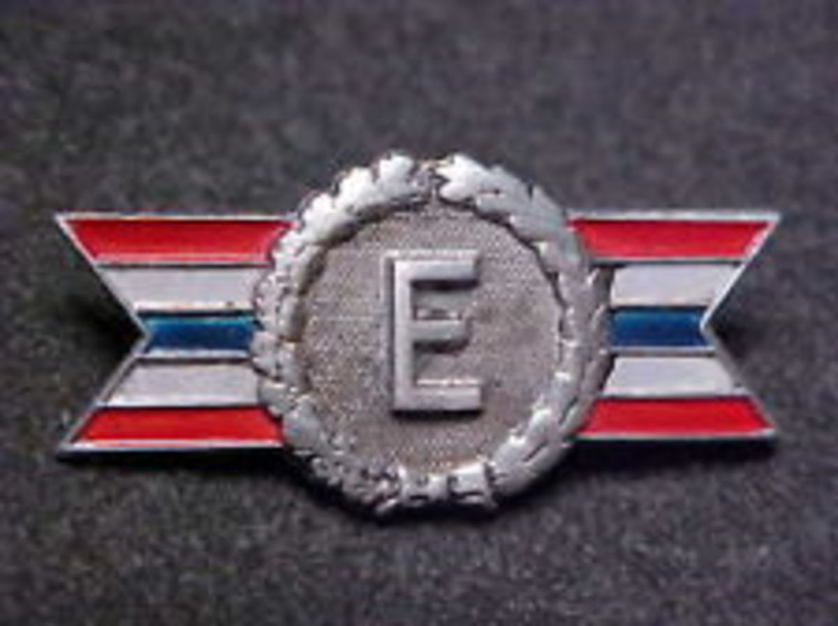 "Mom's ""E"" pin from Boeing from WWII"
