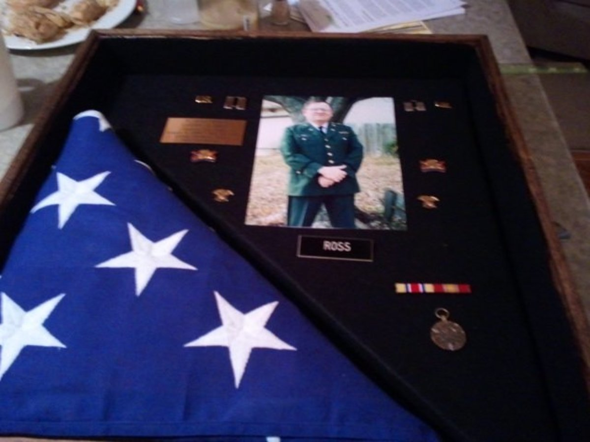 My brother-in-law's military memories preserved.