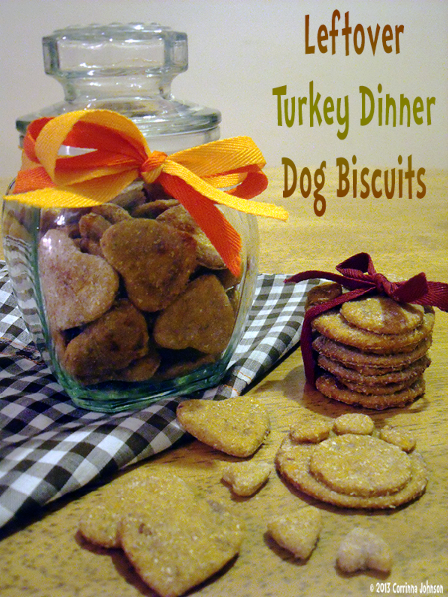 Leftover Turkey Dinner Dog Biscuits