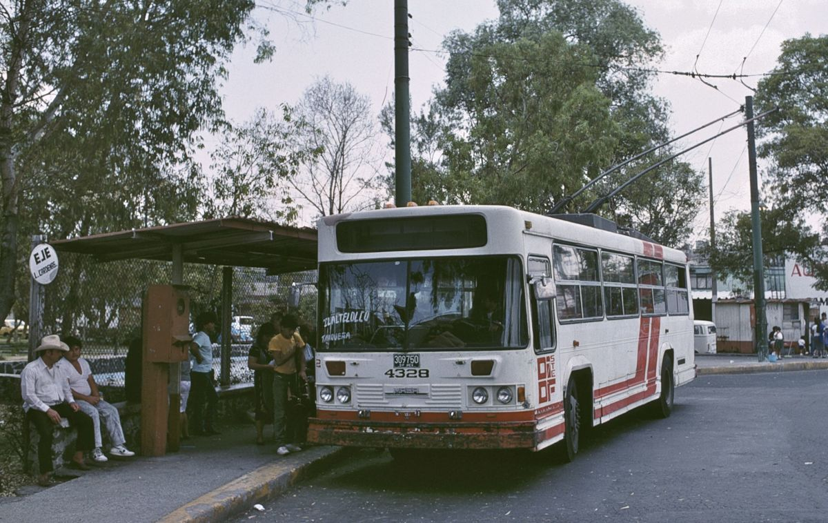 A trolley terminal in the 1990s