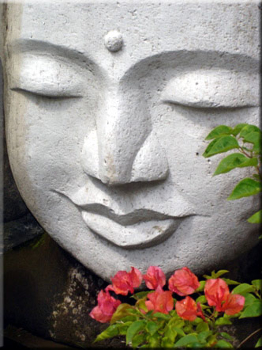 The third eye shown on Buddha