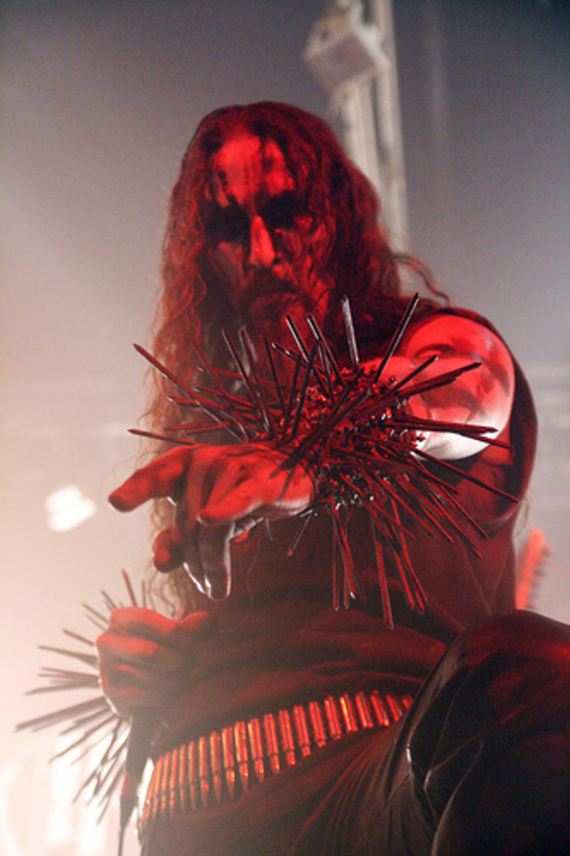Gaahl on stage during his time with Gorgoroth.