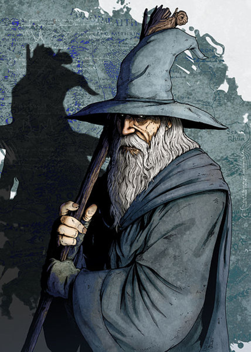 Depiction of Gandalf the Grey