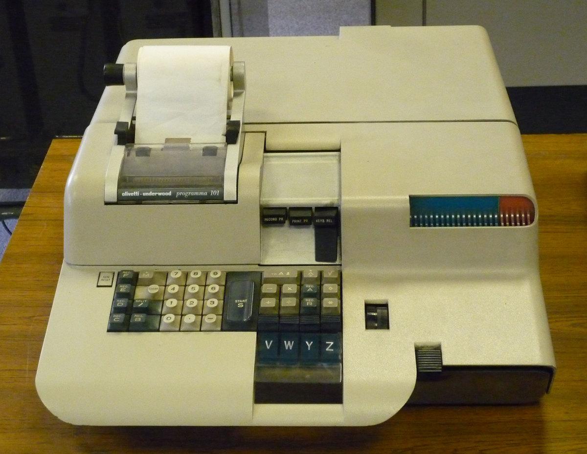 A Programma 101 ' portable calculator'.