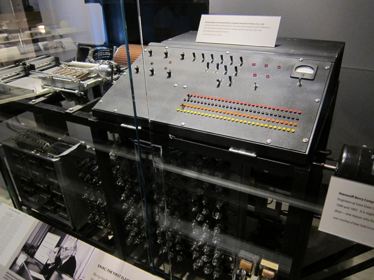 A replica of the ABC computer.