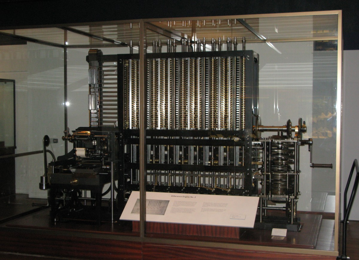 A replica of the Babbage Difference Engine, completed in the 1990s.