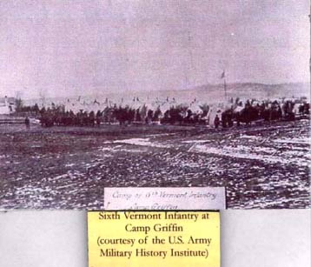 The 6th Vermont Volunteers at Camp Griffin