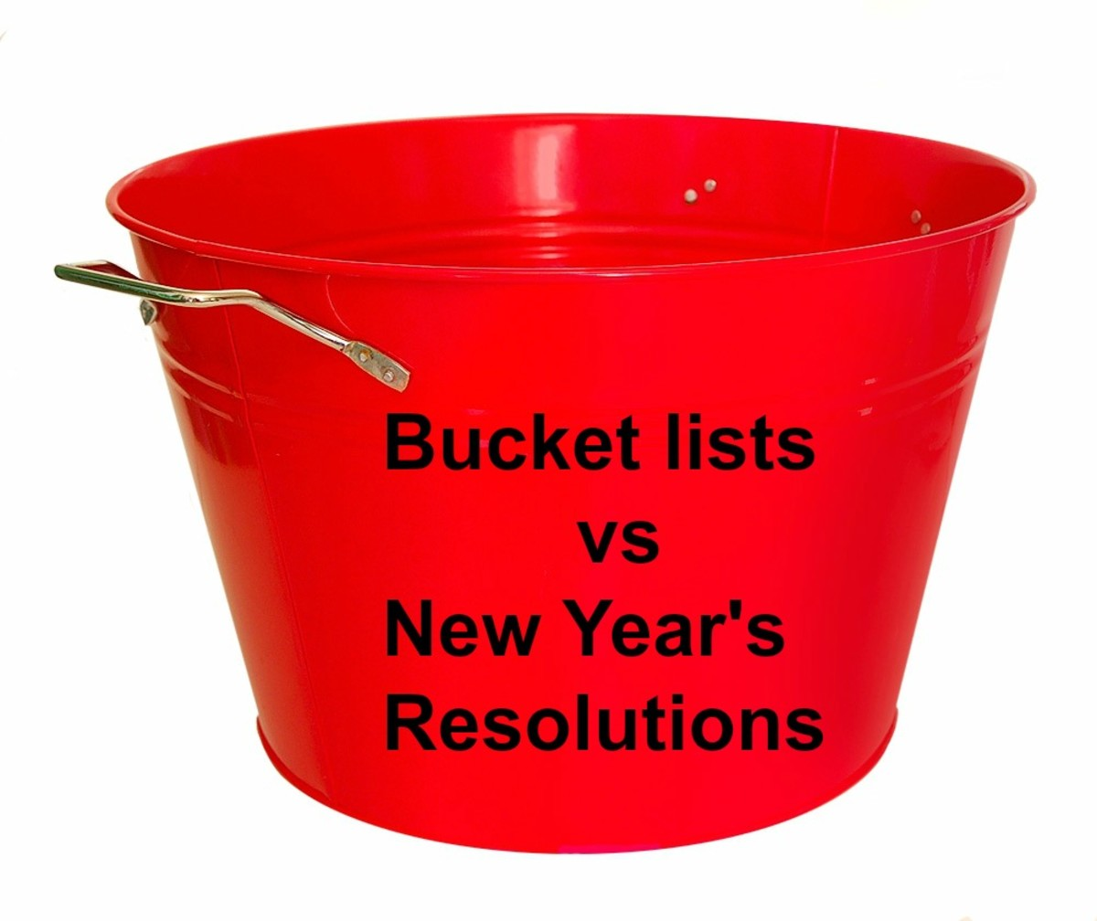 Bucket Lists vs New Year's Resolutions