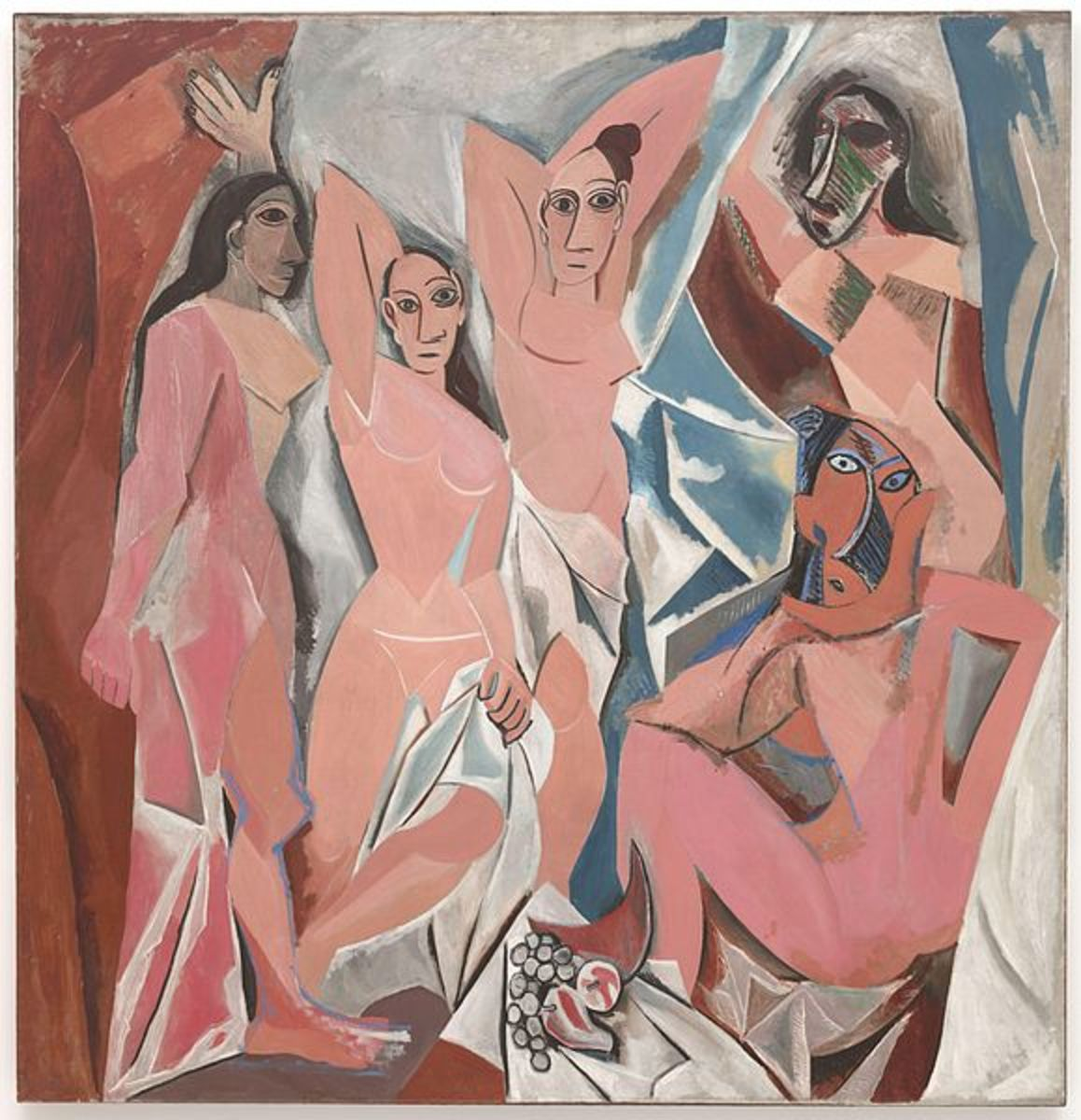 Les Demoiselles d'Avignon / The Young Ladies of Avignon — originally called The Brothel of Avignon (1907)