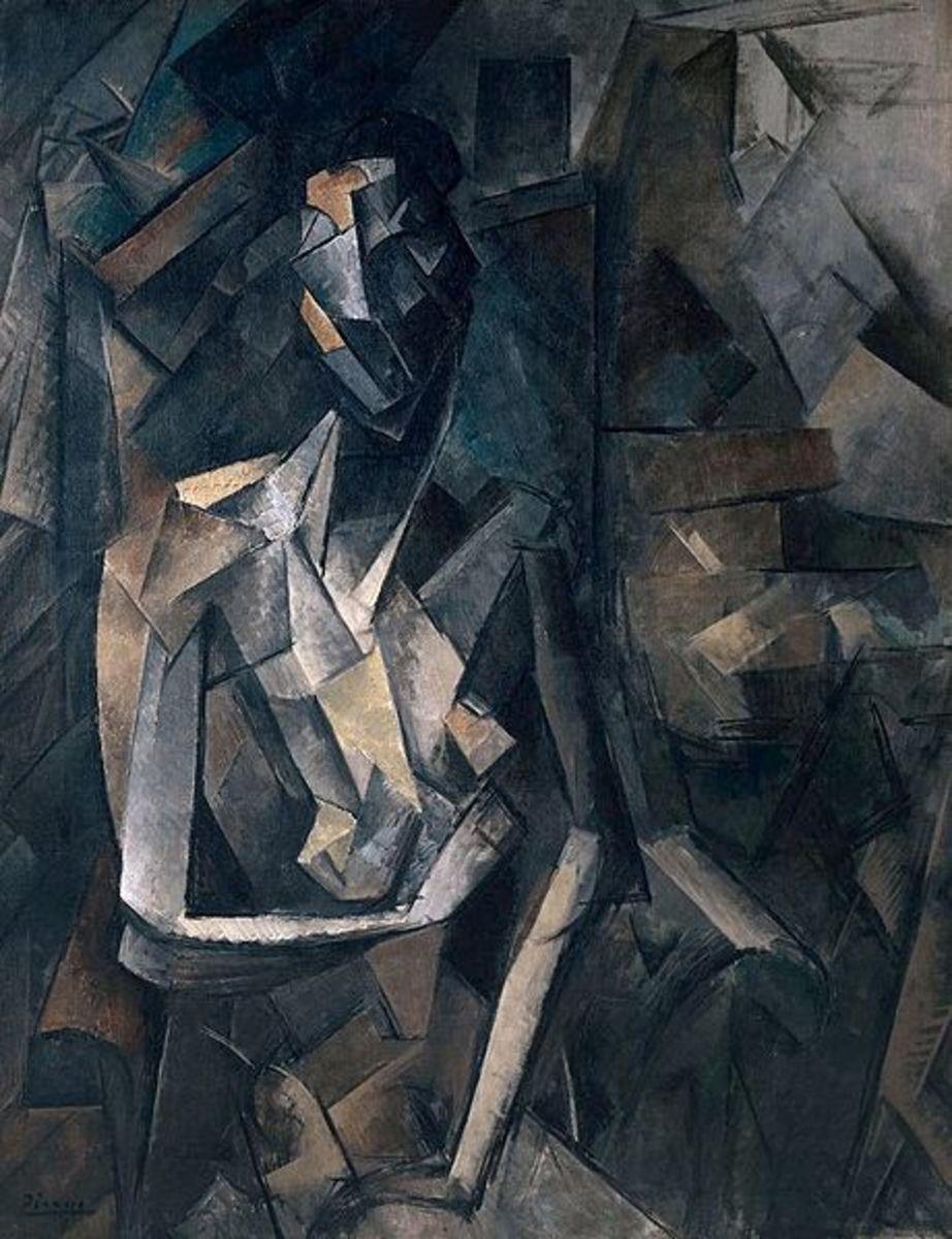 Figure dans un Fauteuil  / Seated Nude  / Femme nue assise (1909-1910)