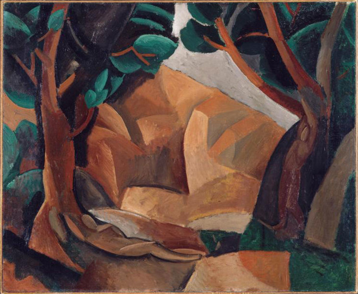 Paysage aux deux figures / Landscape with Two Figures (1908)