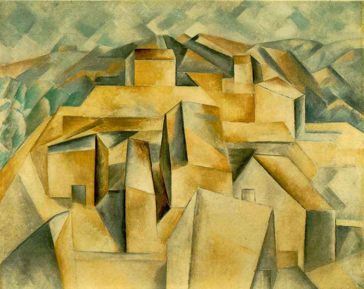 Houses on the Hill (1909) is Pablo Picasso's first completely Cubist painting.