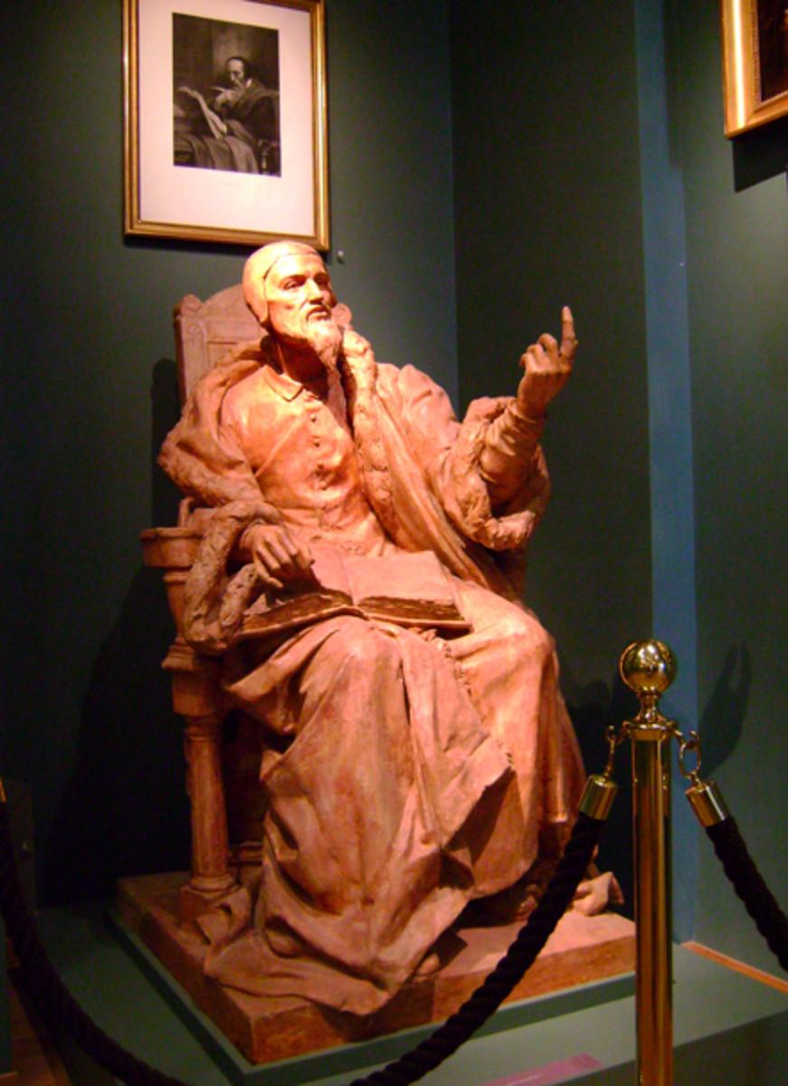 Statue of John Calvin (1509-1564) in Geneva, Switzerland.  Sculptor-Maurice Raymond (1862-1910)